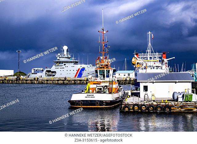 Coast Guard at Grandi, Old Harbour of Reykjavik, Iceland