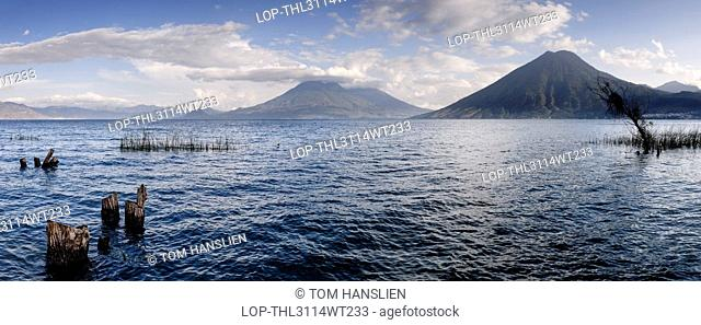 Guatemala, Solola, Lake Atitlan. View of Lake Atitlan from San Marcos La Laguna