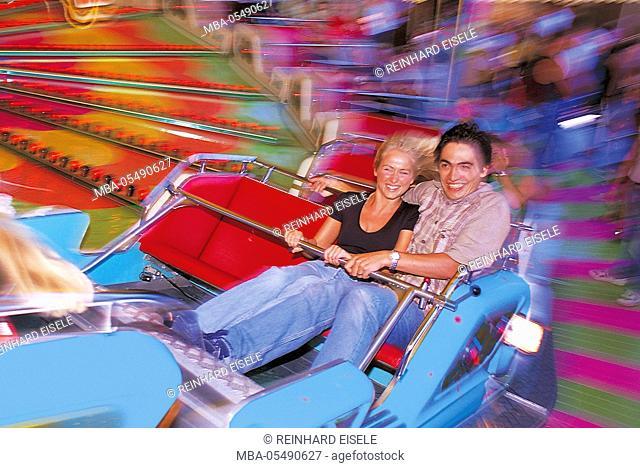 Couple on the fairground