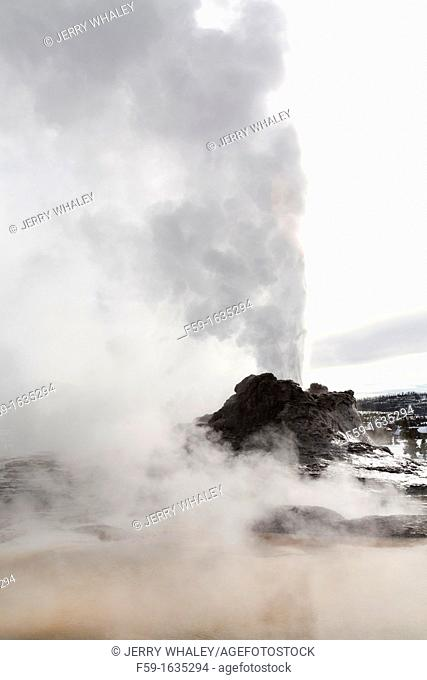 Castle Geyser, Erupting, Yellowstone NP, WY