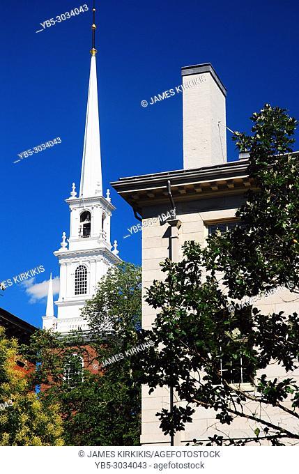 The Memorial Chapel Rises Above Harvard University