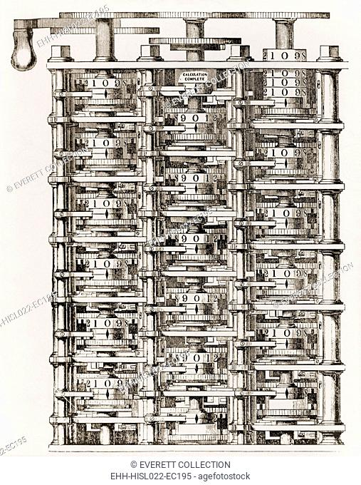 Small part of Babbage's mechanical calculating engine his Difference Engine an invention to which he dedicated his life. While limited by the technology of his...