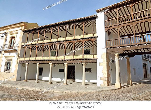 Gallery of Mayor Square Tembleque Toledo La Mancha, Spain