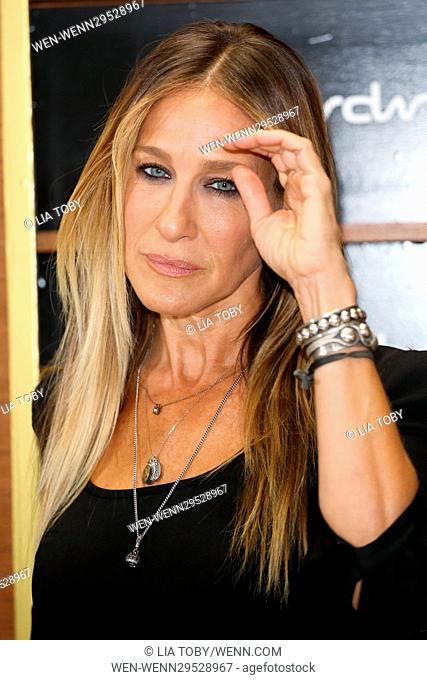 Sarah Jessica Parker launches her new fragrance 'Stash' at Superdrug, Westfield Featuring: Sarah Jessica Parker Where: London