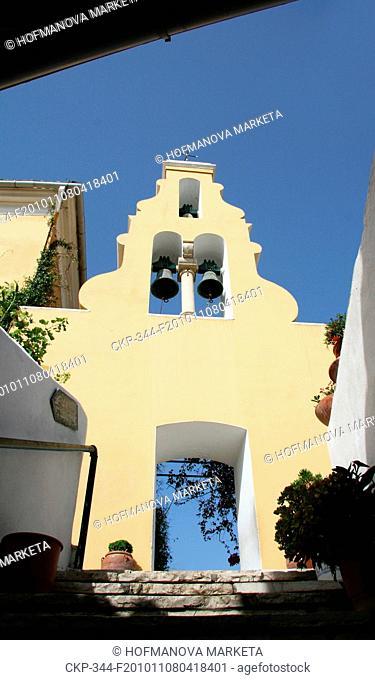 monastery, island, Corfu Kerkyra, Panagia Theotokou tis Paleokastritsas, bell tower CTK Photo/Marketa Hofmanova