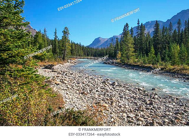 Vermilion River at the Kootenay National Park in Canada