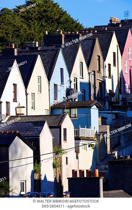 Ireland, County Cork, Cobh, Deck of Cards hillside houses