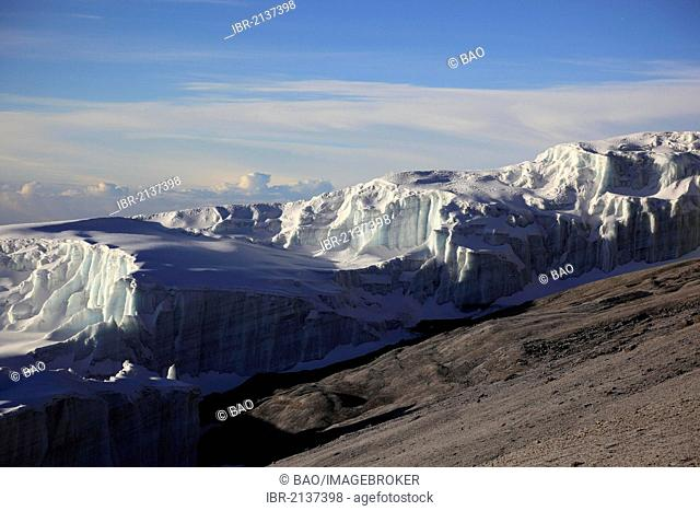 Glacier on Mount Kilimanjaro, Tanzania, Africa
