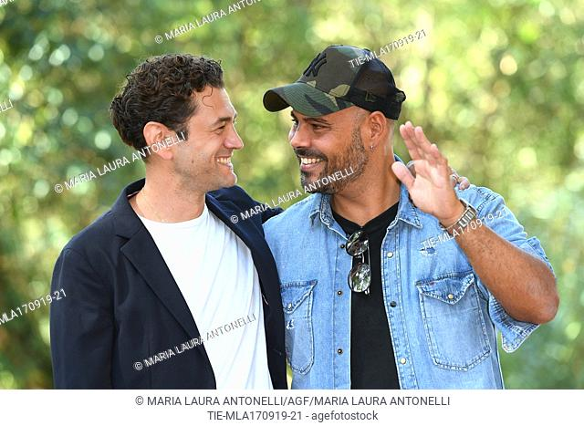 Vinicio Marchioni, Marco D'Amore during the photocall of film ' Drive me home ' Rome, ITALY-17-09-2019