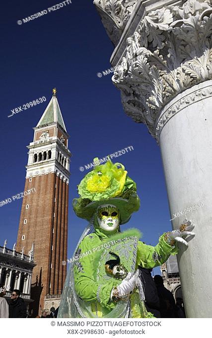 Traditional Venetian mask at Carnival 2017, Venice, Italy