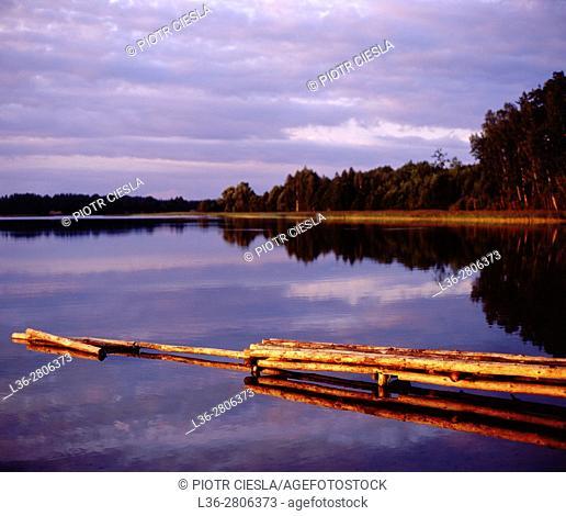Poland. Suwalski region. Zelwa Lake