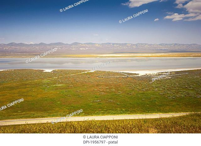 View Of Carrizo Plain And Soda Lake, California United States Of America