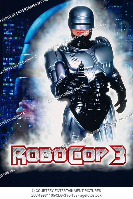 Nov 05, 1993; Atlanta, GA, USA; Actor ROBERT BURKE stars as Robocop in the Fred Dekker directed sci-fi action thriller, 'Robocop 3.' Key art pictured