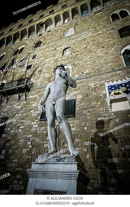 Statue of the David de MichelAngel oy the Museum of the Gallery of the Academy, Florence, Tuscany, Italy, Western Europe