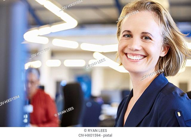 Portrait smiling businesswoman