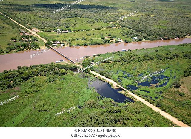 Miranda River and Passo do Lontra, Corumbá, Mato Grosso do Sul, Brazil