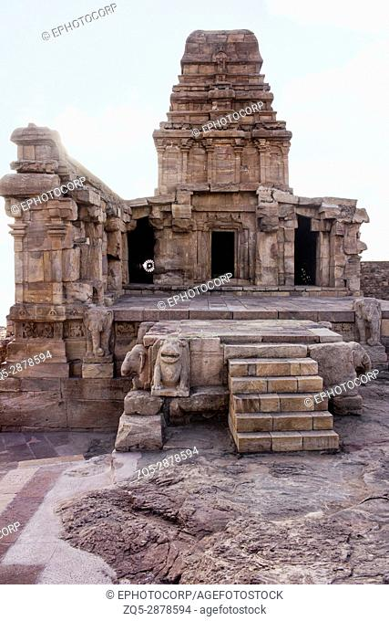 Upper Shivalaya temple, North Badami Fort, Karnataka, India