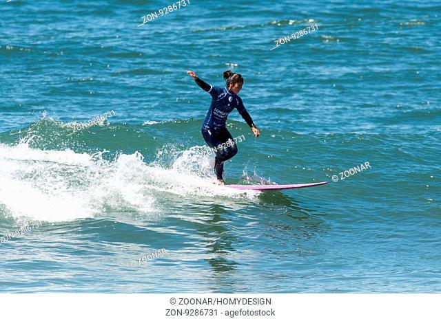 GAIA, PORTUGAL - JUNE 11: Mizue Oguri (JPN) at LQS Longboard Pro Gaia Women's Longboard Tour #3