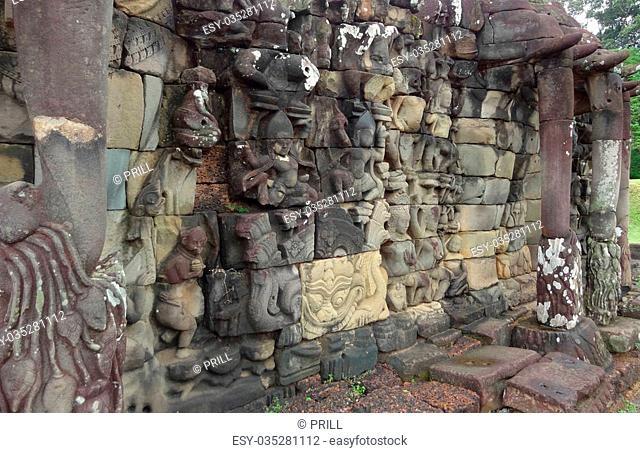 capital city of the Khmer empire in Cambodia named Angkor Thom