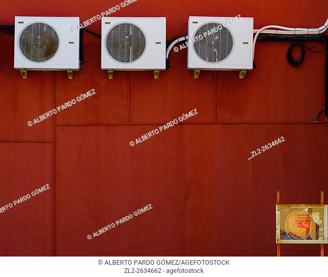 three air conditioners, valencia, Spain