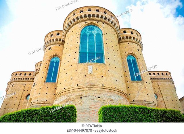 Sanctuary of the Santa Casa, the apse of the Basilica in Loreto in Italy