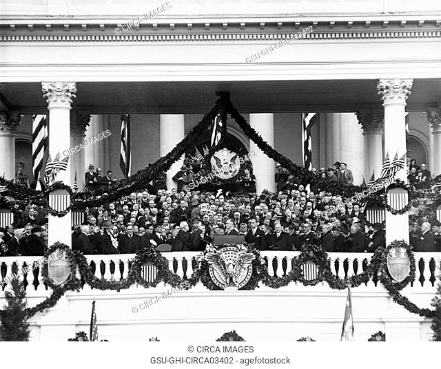 Inauguration of U.S. President Franklin Roosevelt, Washington DC, USA, Harris & Ewing, March 4, 1933