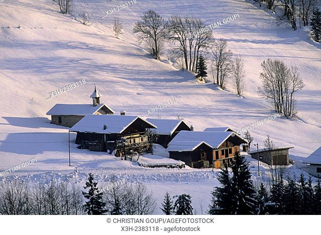 hamlet of St-Sauveur, Hauteluce, Savoie department, Rhone-Alpes region, France, Europe