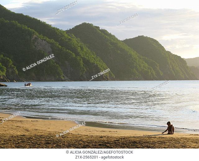 Boy in the Playa Medina Beach, Sucre State Venezuela