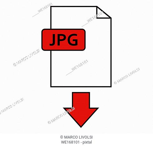 jpeg download icon