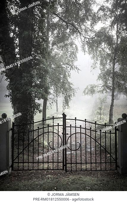 Iron gate at a mystic path, Gotland, Sweden / Tor vor mystischem Weg, Gotland, Schweden