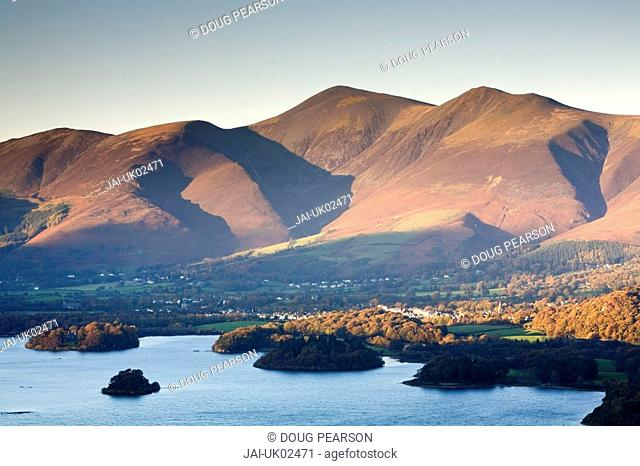 Keswick & Skiddaw Range, Lake District, Cumbria, England