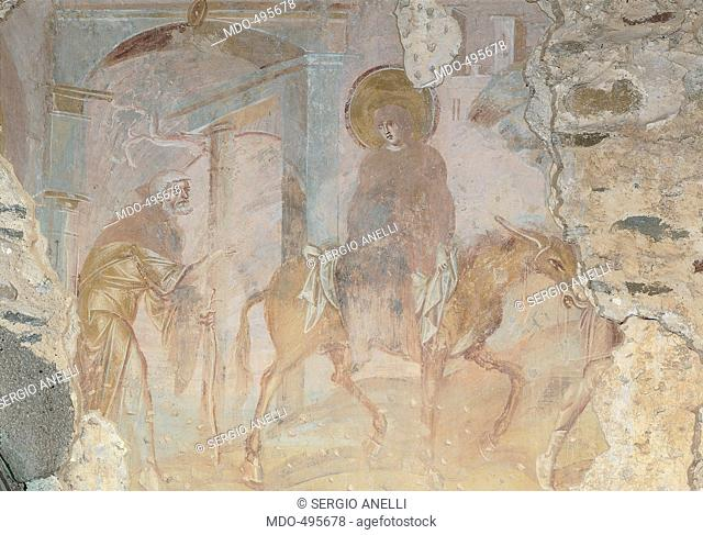 Pre-Romanesque fresco cycle, by Anonymous artist, 831 - 849, 1st Century10th, fresco. Italy, Lombardy, Castelseprio, Varese, Santa Maria Foris Portas Church