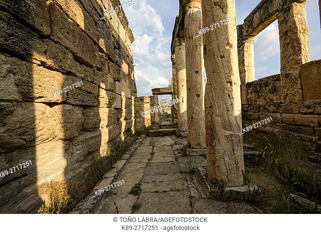 The latrines. Hierapolis. Ancient Greece. Asia Minor. Turkey