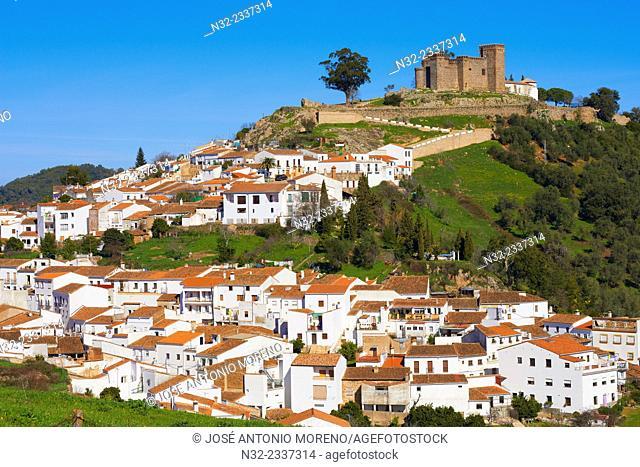 Cortegana, Castle, Sierra de Aracena y Picos Aroche natural park, Huelva province, Andalusia, Spain