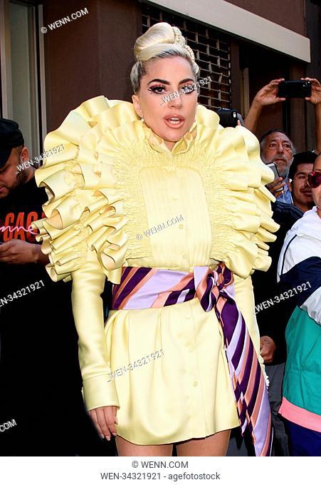 Lady Gaga Departs Recording Studio Featuring: Lady Gaga Where: New York, New York, United States When: 30 May 2018 Credit: WENN.com