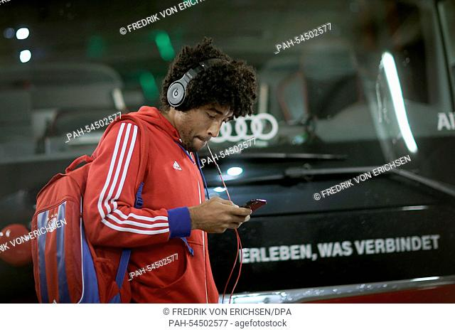 Munich's Dante arrives at the stadium before the German Bundesliga soccer match between 1. FSV Mainz 05 and FC Bayern Munich at Coface Arena in Mainz, Germany