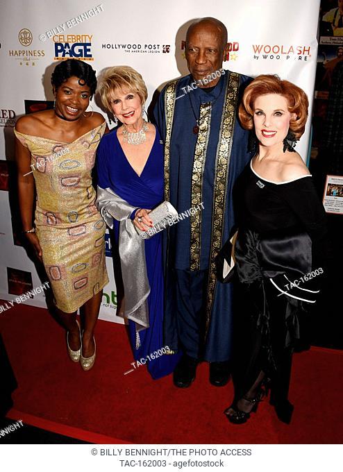 Jori Jordon, Karen Sharpe Kramer, Louis Gossett Jr. and Kat Kramer attends The 3rd Annual Roger Neal Style Hollywood Oscar Viewing Black Tie Dinner Gala and...