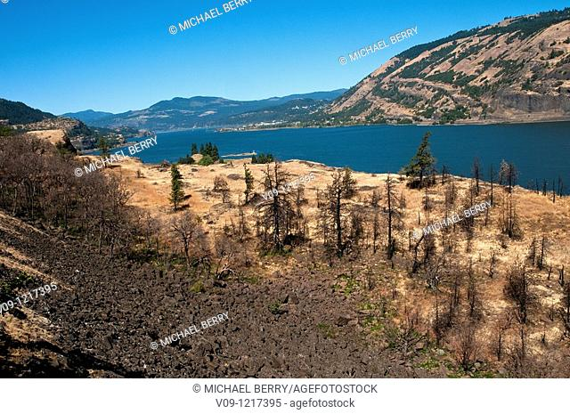 Columbia River from the Mosier Tunnels trail, Oregon, USA
