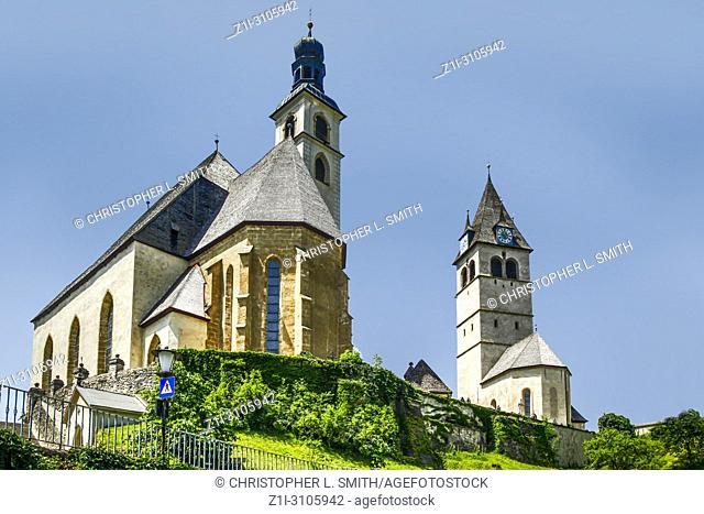 The church of our Lady and the church of Andrew the Apostle in Kitzbuhl, Austria