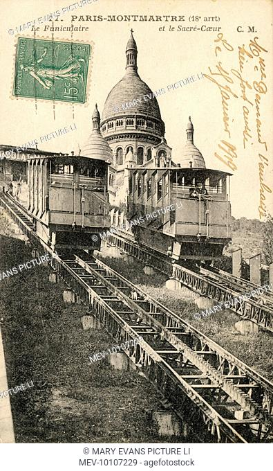 Sacre Coeur, Montmartre, with the Funiculaire