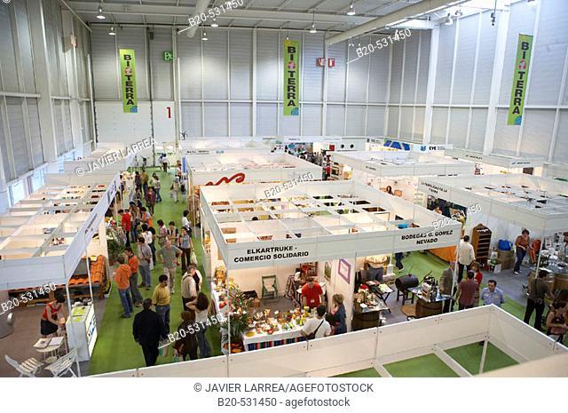 Bioterra, fair of organic products, ecological management and the environment, FICOBA, Basque Coast International Fair. Irun, Gipuzkoa, Basque Country, Spain