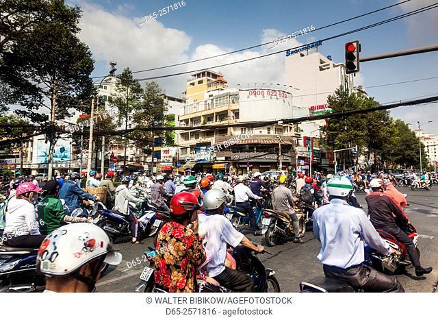 Vietnam, Ho Chi Minh City, motorbike traffic