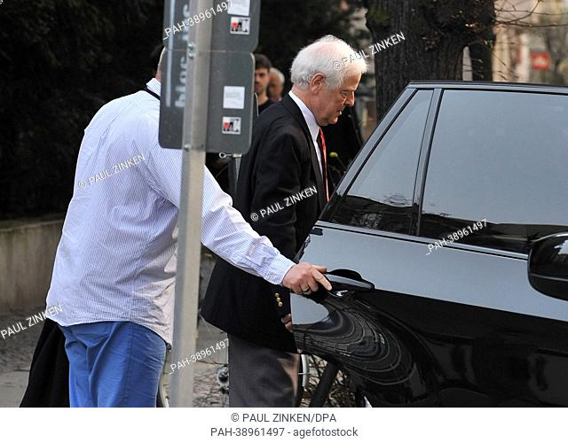Nick Clooney (C), father of George Clooney gets into a car outside of the Renaissance Theater in Berlin,Germany, 22 April 2013