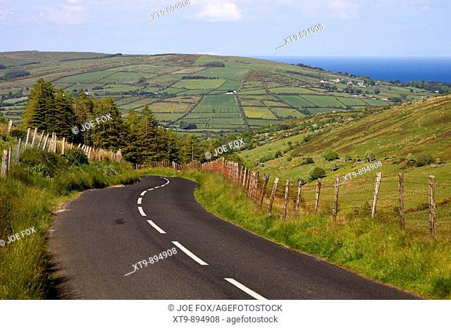 twisty country mountain road through glenaan scenic route glenaan county antrim northern ireland uk glenaan is one of the nine glens of antrim