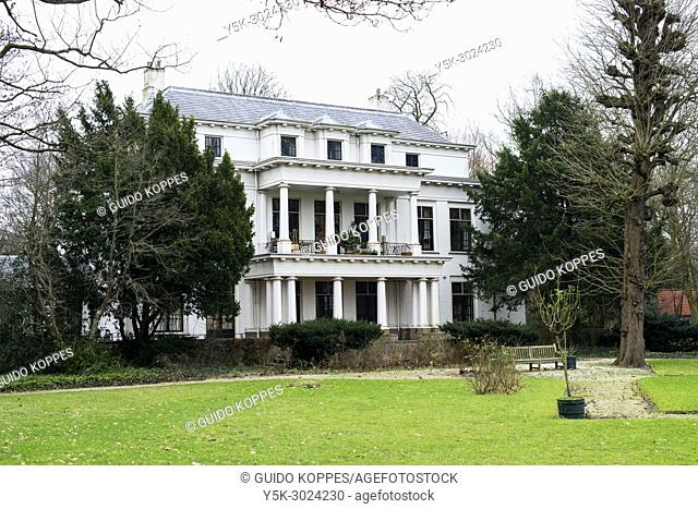 Rotterdam Overschie, Netherlands. Meadow and Main Villa at The Temple Country Seat and Estate