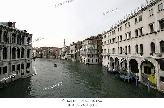 Italy, Venice, View of Grand Canal