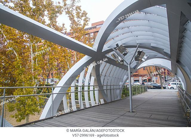Bridge by Perrault. Madrid Rio park, Madrid, Spain