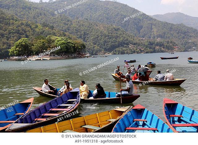 Nepal, City of Pokhara, the Phewa lake
