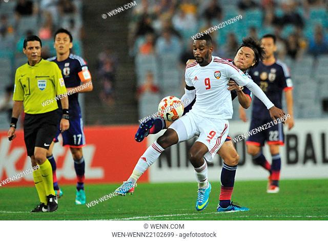 The United Arab Emirites has beaten Japan in the quarter finals of the Asian Football Championship Featuring: Abdulaziz Hussain Haikal Where: Sydney