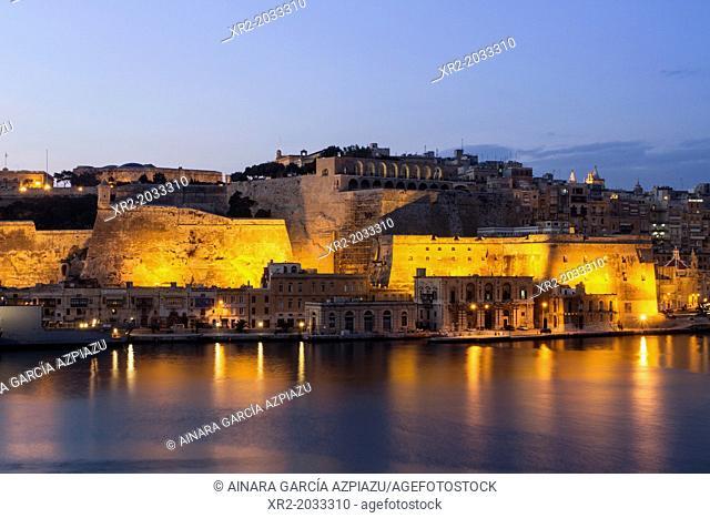 Blue hour in Valletta, Malta